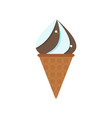 icecream cone chocolate vector image