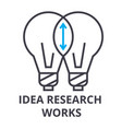 idea research works thin line icon sign symbol vector image vector image