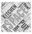 kitchen cabinet designs Word Cloud Concept vector image vector image