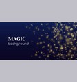 magic shine abstract background gold vector image