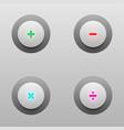 math tech buttons vector image