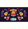 mexican banner vector image vector image