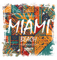 miami beach background vector image vector image