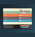 modern abstract brochure design for infographics vector image vector image