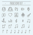 music festival thin line icons set vector image vector image
