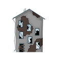 old weathered house or dwelling abandoned home vector image