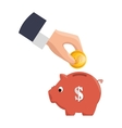 piggy savings money icon vector image vector image