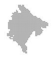 pixel map of montenegro dotted map of montenegro vector image