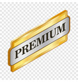 rectangular label premium isometric icon vector image vector image
