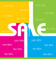 sale background and label for business promotion vector image