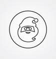 santa outline symbol dark on white background logo vector image