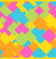 seamless abstract geometric pattern of overlapping vector image vector image