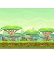 Seamless cartoon fantasy landscape vector image vector image