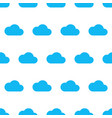 seamless pattern from blue cloud on white vector image vector image