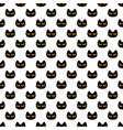 seamless pattern with black scary halloween vector image