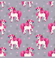 seamless pattern with cute cartoon fairy unicorns vector image vector image