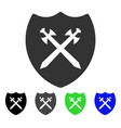 security shield flat icon vector image vector image