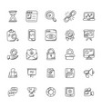 seo and marketing doodle icons vector image vector image