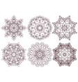 set ornamental line patterns vector image