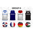 set soccer jersey or football kit template vector image vector image