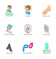 sexual problem icons set isometric style vector image vector image