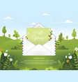 spring season with email vector image vector image