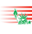 statue liberty marijuana leafs with usa flag vector image