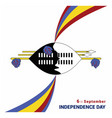 swaziland independence day design vector image