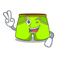 two finger cartoon sport fashion shorts for vector image
