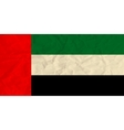 United Arab Emirates paper flag vector image