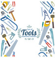 vertical seamless borders of repair tools icons vector image vector image