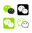we chat symbol web icon comments color messenger vector image vector image