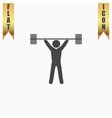 Weightlifting flat icon vector image vector image