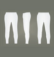 white tracksuit bottoms vector image