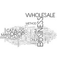 wholesale and drop shipper work together text vector image vector image