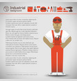 workman and industrial background vector image vector image