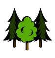 three tree icon cartoon vector image