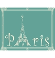 card with eiffel tower vector image