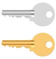 Pin tumbler lock key vector image