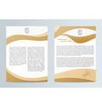 Business brochure Brochure Flyer design Easy to vector image