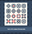 set of design elements abstract vector image