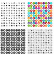 100 computer icons set variant vector image vector image