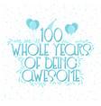 100 years birthday and years anniversary vector image vector image