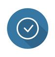 Accept Icon Confirm Button vector image
