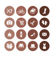 accessories icons universal set for web and ui vector image