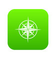ancient compass icon digital green vector image