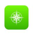 ancient compass icon digital green vector image vector image
