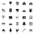 Application icons with reflect on white background vector image vector image