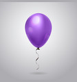 balloon with ribbon for celebration decoration vector image