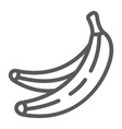 banana line icon fruits and vegetables tropical vector image vector image